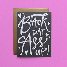 Booty Call Valentine's Day Card