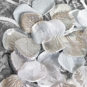 Silver & White Rose Petals--will use on tables around lanterns