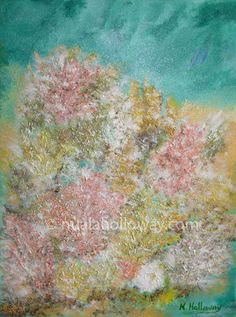 """Coral Off the West Coast of Ireland"" by Nuala Holloway - Oil and Sand on Canvas #Coral #Ireland #OilPainting"