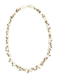 Soixante Neuf  Labradorite Bead Circle Link Necklace