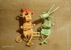 Мастер-класс Поделка изделие Новый год Плетение Обезьянка - той козы подружка Трубочки бумажные фото 1