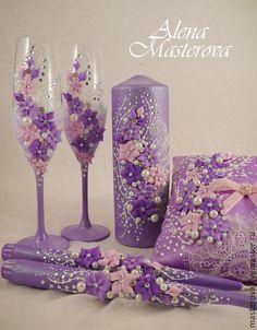 """Купить В наличии!! Набор свадебных аксессуаров, коллекция """" Вальс цветов"""" - розовый"""