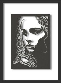 Papercut Art: Game of Thrones' Daenerys Targaryen, A4 size.