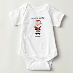 Meeting Santa Onesie Christmas Set Pictures with by soprettybaby