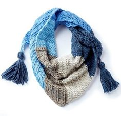 Take your crocheting skills to the next level with a Crochet Kerchief Scarf! Find your favorite supplies at Pat Catan's.