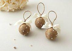 Dekorácie - Vianočné gule s perličkami - 5948859_