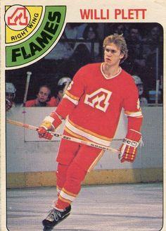 Willi Plett trading card Hockey Cards, Baseball Cards, Atlanta, Ice King, Good Old Times, Florida Panthers, Fighting Irish, New York Rangers, Hockey Players