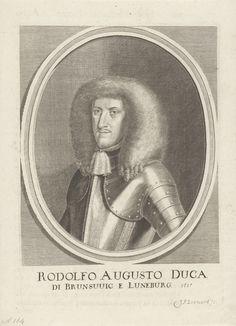 Johann Friedrich Leonard | Portret van Rudolf August van Brunswijk-Wolfenbüttel, Johann Friedrich Leonard, 1643 - 1680 | Portret van Rudolf August, hertog van Brunswijk-Wolfenbüttel.