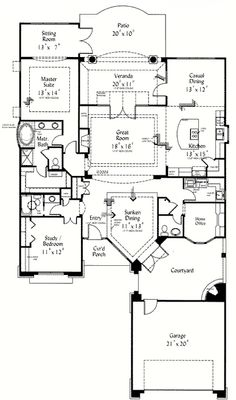 Retirement house plans on pinterest brick house plans for Retirement house plans