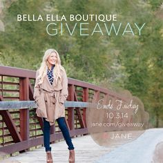 { @veryjane #GIVEAWAY } Fall is in the air and we have the perfect giveaway to get yourself a little shopping spree and a new Fall outfit! We have a few $100 gift certificates to hand out to @bellaellautah. Ends this Friday. The more you enter, the more chances you can win! Ready.... go enter: http://vryjn.it/bella-ella-pin