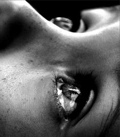 Emotion photos. Closeup to the tear of this woman fully and effectively…