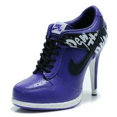 none Nike High Heels Nike High Heels, High Heel Sneakers, Sneaker Heels, Sexy High Heels, Womens High Heels, Unique Shoes, Cute Shoes, Me Too Shoes, Cheap Heels