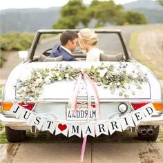 Just Married Wedding Banner Just Married Sign Rustic Wedding Decor Getaway Car Decor Wedding Sign Wedding Backdrop Wedding Photo Prop Engagement Photo Props, Wedding Photo Props, Wedding Photos, Just Married Auto, Just Married Banner, Wedding Car Decorations, Garland Wedding, Decor Wedding, Arch Wedding