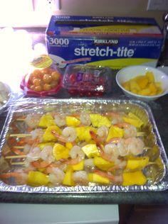 Mmmm shrimp skewers