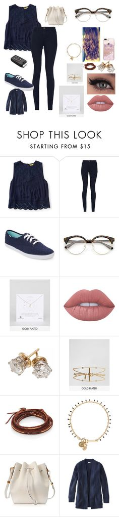 """Untitled #556"" by suandergoncalves on Polyvore featuring Aéropostale, Alice + Olivia, Keds, Dogeared, Lime Crime, Gorjana, Chan Luu, Isabel Marant, Sophie Hulme and L.L.Bean"