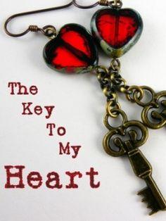 The key to my heart earrings.