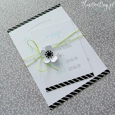 Wedding invitation - WHITE ANEMONE