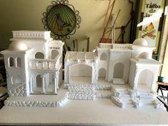 Christmas Crib Ideas, Christmas Nativity Scene, Santorini Greece, Ramadan, Ideas Para, Cribs, Tiny House, Modeling, Miniatures