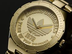 Adidas commemorative watch featuring the brand's iconic Trefoil symbol (created 40 years ago in 1972)