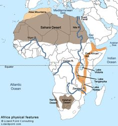 Africa Physical Map   Google Search