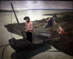 """Pierre Puvis de Chavannes: """"Le Pauvre Pecheur"""", 1881, oil on canvas, Current location: Musée d'Orsay."""