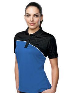 c8b50aa823a Racing Polo Shirt - Womens Style KL147 - http   www.stellarapparel.
