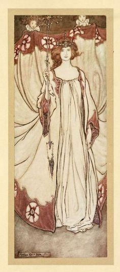 Queen Mab, Peter Pan in Kensington Gardens, by J. M. Barrie, illustrated by Arthur Rackham, 1906
