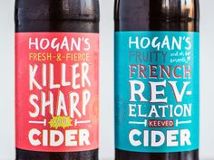 Hogan's Cider Comes With Some Delightfully Illustrated Typography — The Dieline | Packaging & Branding Design & Innovation News