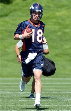 Broncos, Manning Take Field for Day One of OTA's