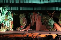 Tarzan set stage right