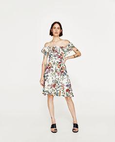ZARA - WOMAN - FLORAL PRINT LINEN DRESS