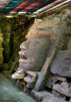 Lamanai (maya yucateco: Lama'an Ai, 'Cocodrilo sumergido')? es un sitio arqueológico de la cultura maya precolombina, que se localiza en el Distrito de Orange Walk (norte de Belice)