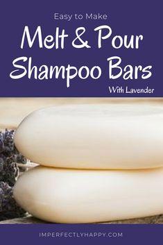 Easy DIY Melt and Pour Shampoo Bars You'll Love DIY Shampoo Bars - easy to make melt and pour with lavender essential oil.DIY Shampoo Bars - easy to make melt and pour with lavender essential oil. Shampoo Bar Diy, Solid Shampoo, Natural Shampoo, Organic Shampoo, Natural Soaps, Diy Cosmetic, Homemade Soap Recipes, Homemade Facials, Homemade Deodorant