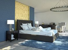 how to decorate a bedroom with blue carpet - google search | for