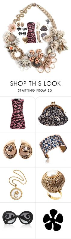 """""""Sixties Vibe"""" by flowerbud77 on Polyvore featuring moda, Damico, RED Valentino, Black, Christian Dior, Les Georgettes, Miriam Haskell, Prada, retro y sixties"""