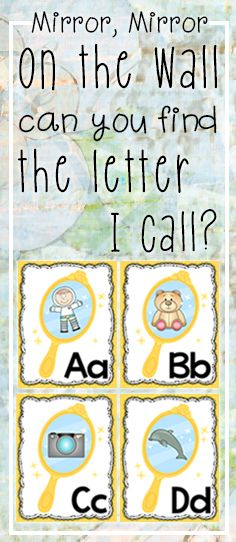 Magical enchanted mirror alphabet posters/flashcards.  Other resources available to match this fairytale theme.  Suitable for Pre-2nd Grade.  $