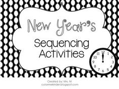 FREE Sequencing Activities! Colored & Black/White Images