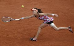 Poland's Agnieszka Radwanska returns the ball during the third round match of the French Open tennis tournament against Croatia's Ajla Tomljanovic at the Roland Garros stadium, in Paris, France, Friday, May 30, 2014. (AP Photo/Michel Euler) ▼30May2014APviaYahoo!News|Radwanska loses to Tomljanovic at French Open http://news.yahoo.com/radwanska-loses-tomljanovic-french-open-110642327--spt.html #Agnieszka_Radwanska #French_Open #Internationaux_de_France_de_tennis #Torneo_de_Roland_Garros