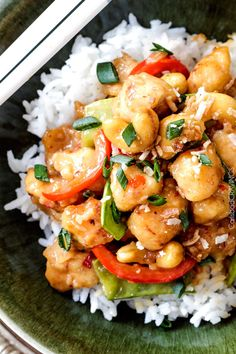 Honey Coconut Cashew Chicken Stir Fry | Carlsbad Cravings