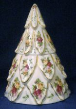 Royal Albert Old Country Roses bone china Tree Treat/Cookie Jar 1962 new