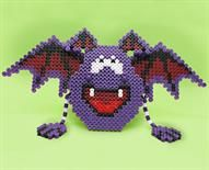 Fun Bat  Designed By The Perler Design Team  We just love this goofy-looking Halloween bat—hardly scary at all! He's quick and easy to make with Perler beads and makes a great decoration for a spooky holiday