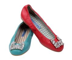 O Jewelry Bunny Ballet Flats. Love the colors!