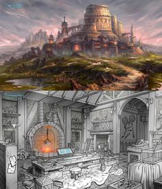 Academy of Magic + Enchantment Chamber by ~uriska on deviantART
