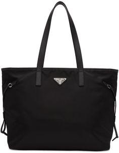 Prada - Black Nylon East West Shopper Tote 13b864703af2e