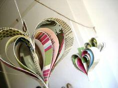 újságpapír+dekoráció+esküvőre
