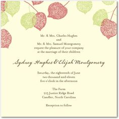 Spring Wedding Invitation Ideas