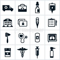 Black Medical Icons Royalty Free Stock Vector Art Illustration
