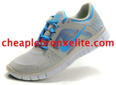 Light Grey Nike Free Run 3 Mens Soar Blue 510642 040