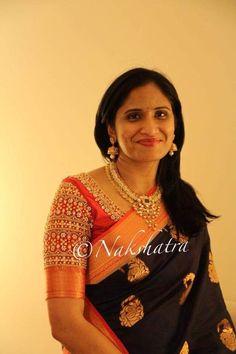 Wedding Saree Blouse Designs, Pattu Saree Blouse Designs, Blouse Designs Silk, Kids Blouse Designs, Maggam Work Designs, Blouse Models, Indian Designer Wear, Work Blouse, Maggam Works