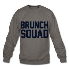 BLACK GLITZ PRINT! Brunch Squad, Unisex Sweatshirt